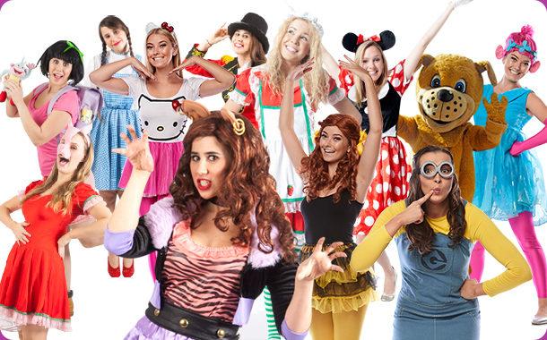 Poppy Troll, Hello Kitty, Dora The Explorer, Minnie Mouse, Minion