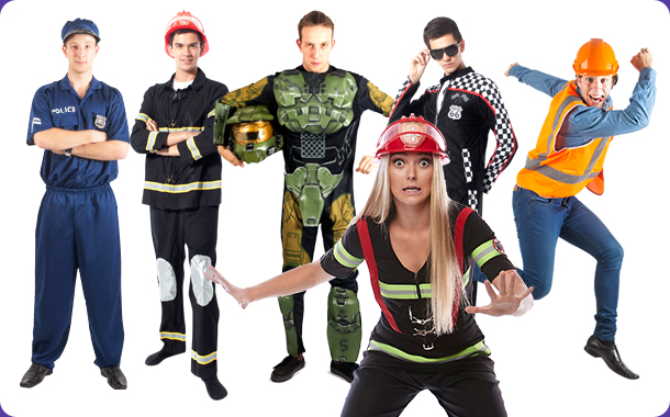 Cool Career Party - Police Officers, Fire Fighters, Racing Drivers